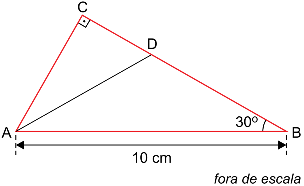 (FAMEMA 2019) A figura mostra o triângulo retângulo ABC